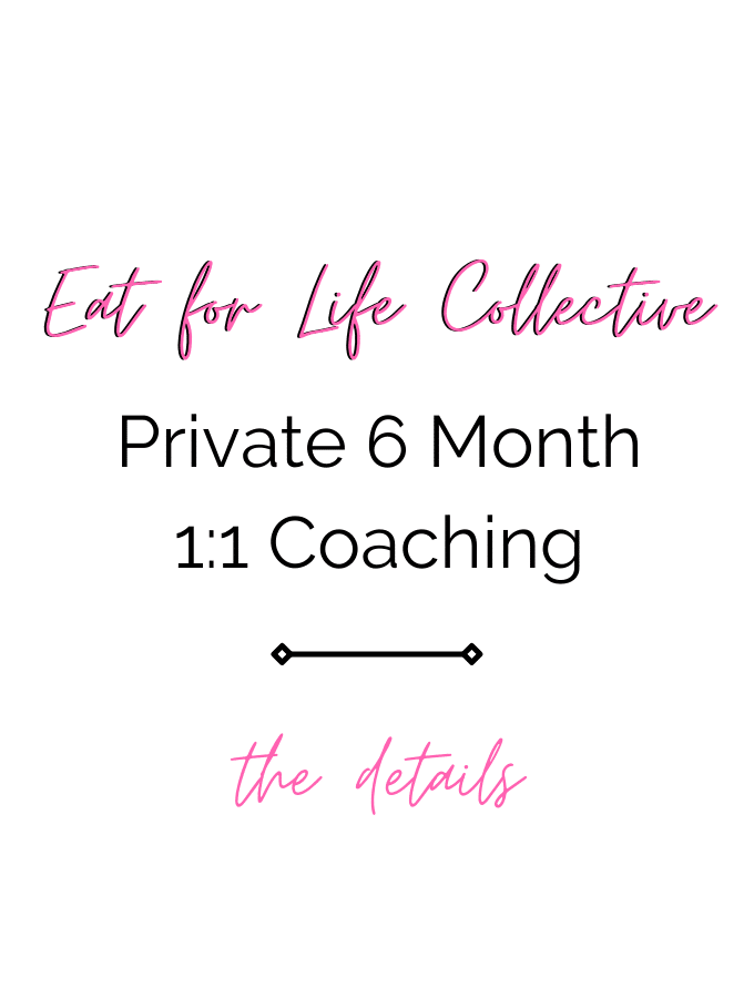 eat for life collective private 1:1 coaching