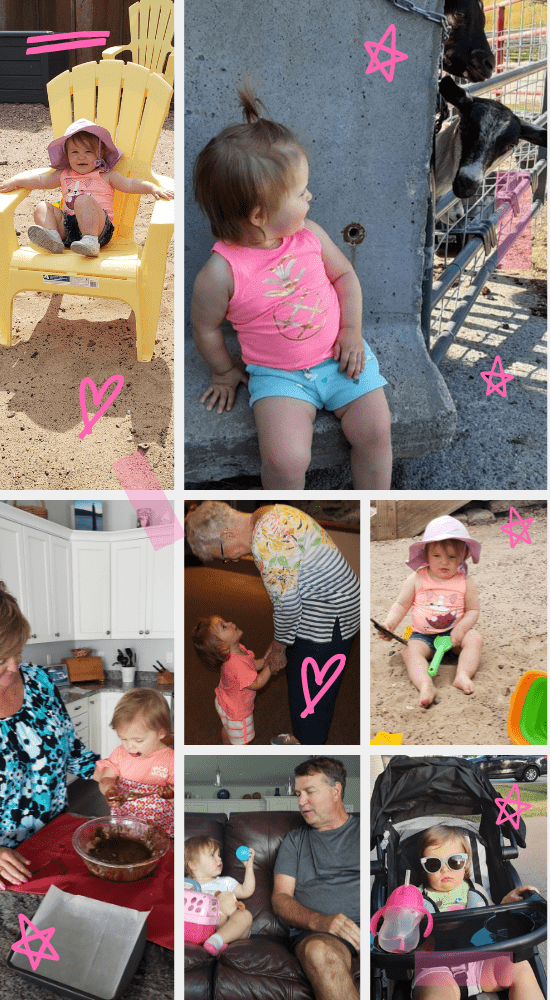 collage of small kid enjoying a summer vacation